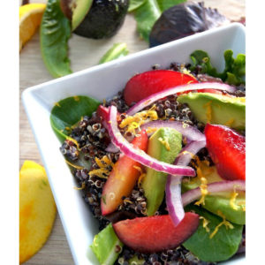 Black Quinoa Salad with Plum and Avocado