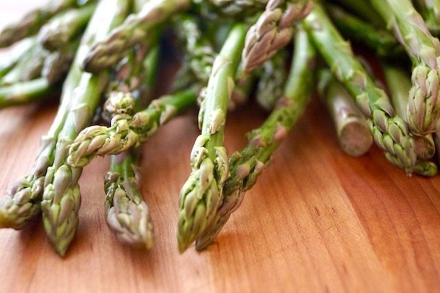 Close up of asparagus spears