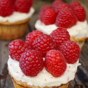 Fresh Raspberry Cupcakes
