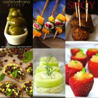 collage of hors d'oeuvres