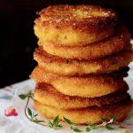 tall stack of hot water cornbread patties